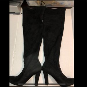 Mossimo over the knee black heeled suede  boots